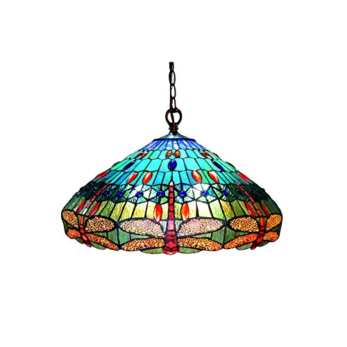 Dragonfly Tiffany Style Pendant Light Fixture in US - 6