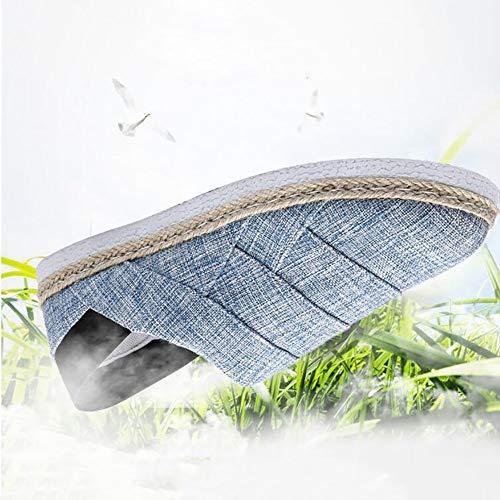 Giallo Sneakers Uomo Blu FHTD Walking Autunno Da Guida Canvas Shoes Casual Scarpe Comfort Da Primavera Blue Nero wqwZg
