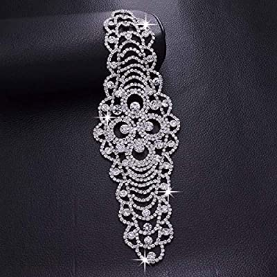 Crystal Clear Rhinestones Belt Appliques For Wedding Dress Sash