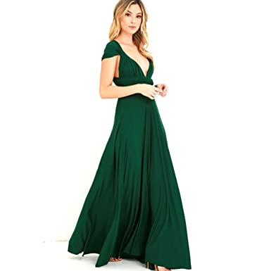 2ebcb3af6e0f Infinity Kleid, Ballkleid, Brautjungfernkleid, Gr. 34-42 GRÜN, dunkelgrün,
