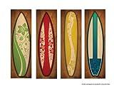 Vintage Surfboard Canvases - Set of 4