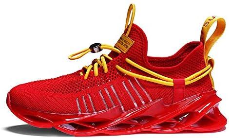 FJJLOVE Zapatillas de Deporte para Hombre Zapatillas de Deporte, Zapatillas de acción para Correr Unisex Zapatillas de Deporte al Aire Libre sin Cordones para Caminar,Rojo,44: Amazon.es: Hogar