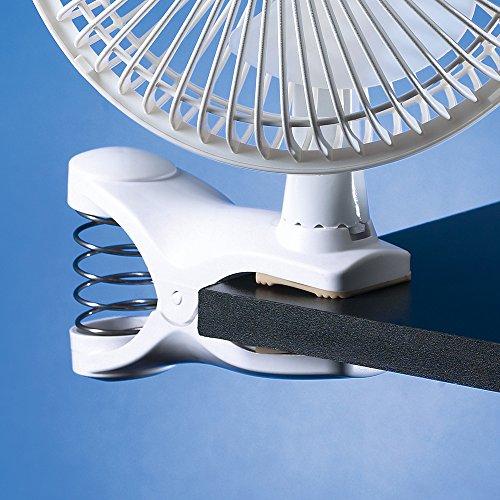 Lasko 2004W 2-Speed Clip Fan, 6-Inch, White