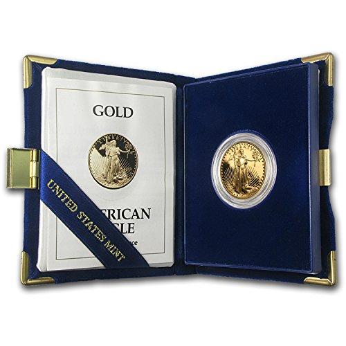 (1993 P 1/2 oz Proof Gold American Eagle (w/Box & COA) 1/2 OZ Brilliant Uncirculated)