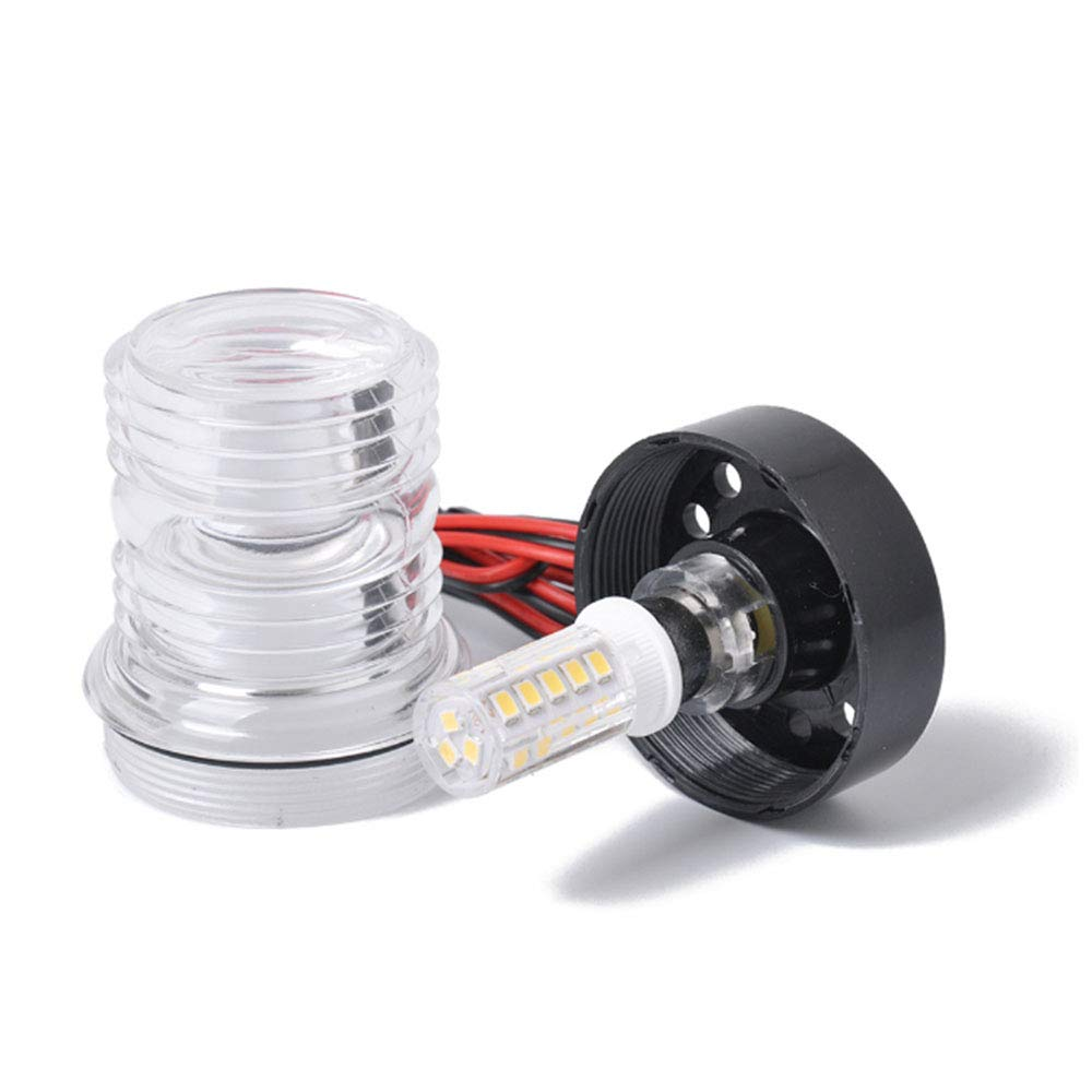 VideoPUP Boat Yacht Marine Navigation Anchor ABS Boat LED Lights with All Round 360°White 12V Boat Signal Light