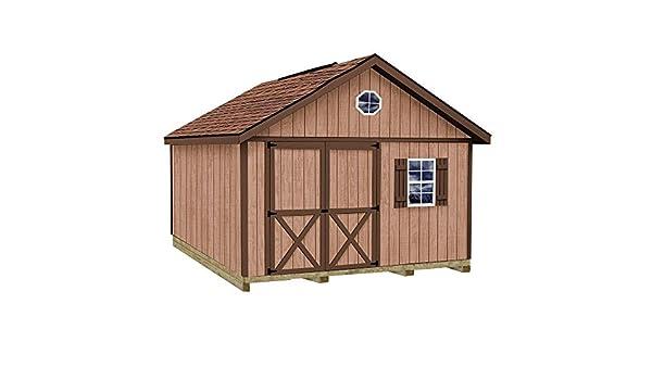 Mejor graneros Brandon 12 pies x 16 pies. Kit de caseta de madera con suelo incluido 4 x 4 x 4: Amazon.es: Bricolaje y herramientas