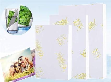 Papel Fotográfico Brillante Impermeable para Impresora de ...