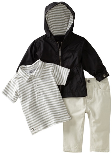 Kenneth Cole Baby Boys' Kc 3 Piece Hoodie Set