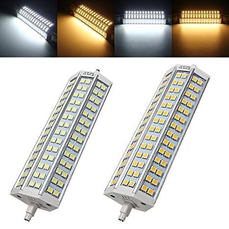 Global R7s 189mm no regulable LED bombilla de 30W 84 SMD 5050 de inundación Luz Lámpara de maíz CA 85-265V: Amazon.es: Iluminación