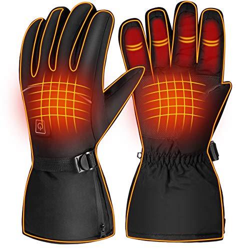 Yinuoday verwarmde handschoenen, winter, elektrische handschoenen, met batterij, handwarmers, handschoenen met 3…
