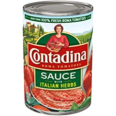 Contadina Roma Style Tomato Sauce with Italian Herbs adds rich flavor to pasta, vegetable dishes and more! With a mild tomato flavor and smooth consistency, this sauce may be used in larger quantities than paste, is extremely versatile and bl...