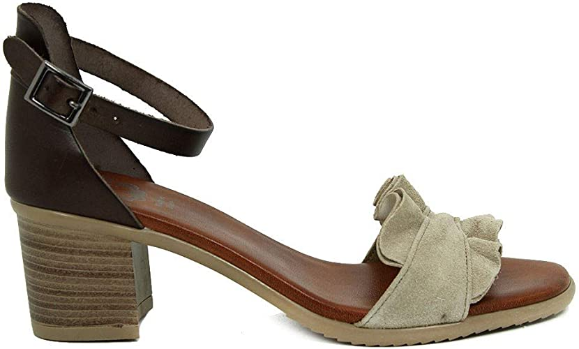 Sandalias Mujer Moka Taupe PORRONET 2542 (38 EU): Amazon.es: Zapatos y complementos