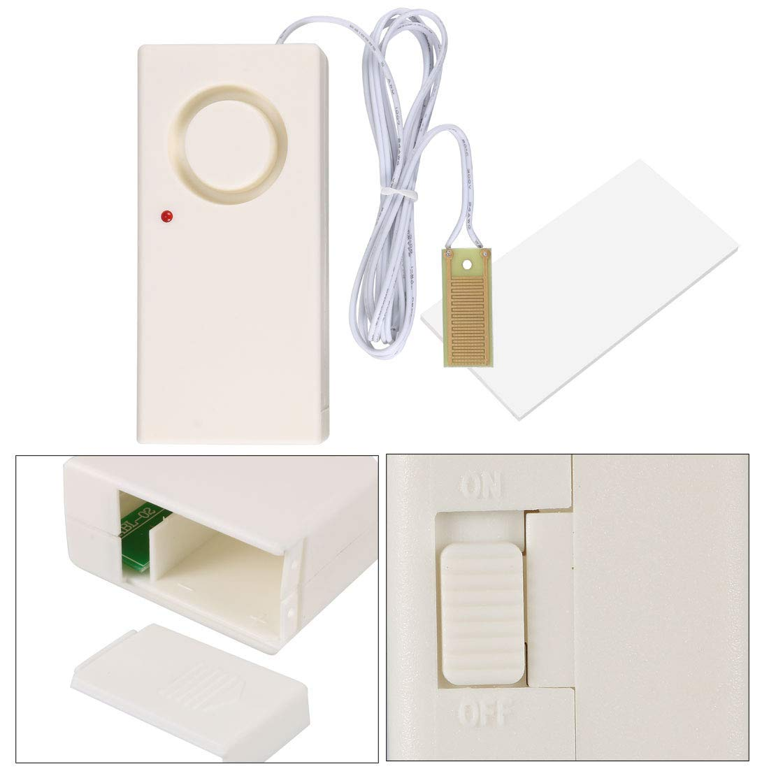 ZCHXD Home Water Leak Sensor Alarm Detector Water Overflow ...