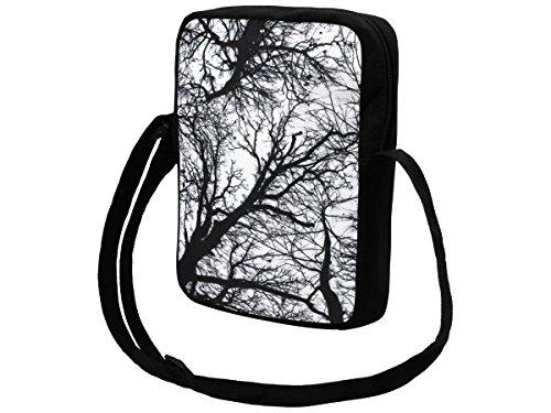 Messenger Bag klein Umhängetasche College Tasche Retro Messengertasche Schultertasche von Alsino (MEB-k05 Union Jack) MEB-k012 Forest