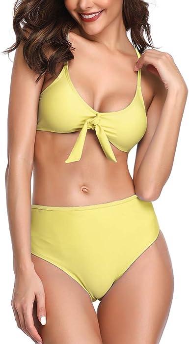 Summer Mae Damen Bikini Hohe Taille Gestreift M/ädchen Bademode