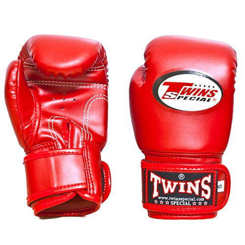 Twins Boxing Gloves (Red) - 4