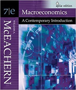 Macroeconomics (with Aplia ITS Card): A Contemporary Introduction (Available Titles Aplia) by William A. McEachern (2006-12-18)