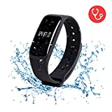 Fitness Tracker - Wearpai Waterproof Activity Tracker with Heart Rate Monitor - Bluetooth Smart Wristband with Sleep Monitor Pedometer Bracelet for iOS & Android (US Version)
