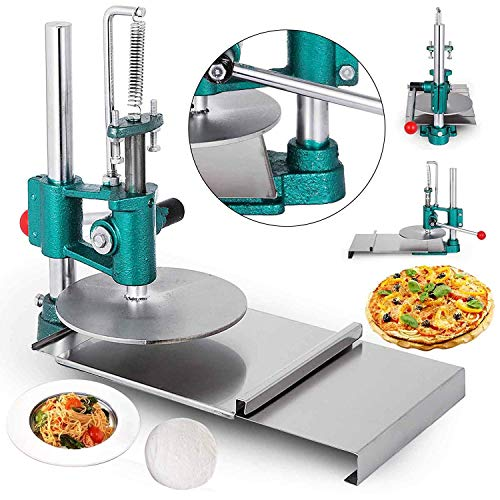 Happybuy Household Pizza Dough Pastry 7.87inches Pizza Pastry Press Machine 304 Stainless Steel Manual Press Machine Easy to Operate