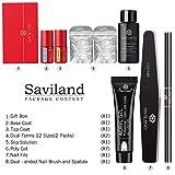 Saviland Poly Nail Gel Kit - Glitter Poly Nail
