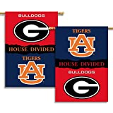 NCAA Georgia – Auburn 2-Sided 28-by-40 inch House Banner with Pole Sleeve- Rivalry House Divided For Sale