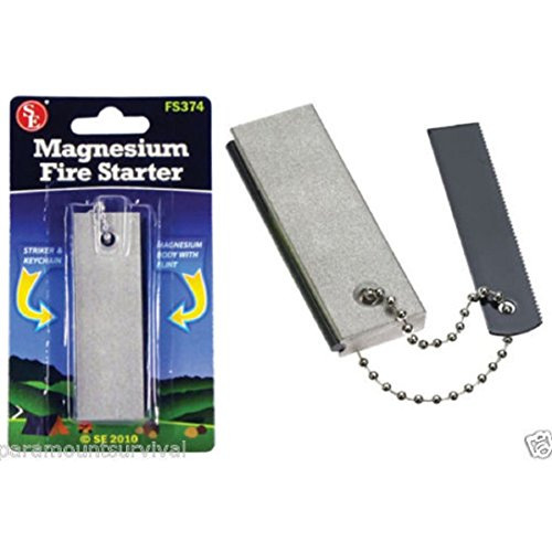 Price comparison product image 2 Pack Magnesium Block Flint Fire Starter Emergency Fire Starter Survival Camping