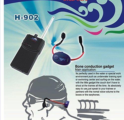 Best Tech Swimming Communication System Waterproof Bone Conduction Earphone and 150M Wireless Walkie Talkie for Swimming Teaching (Walkie talkie speaker)