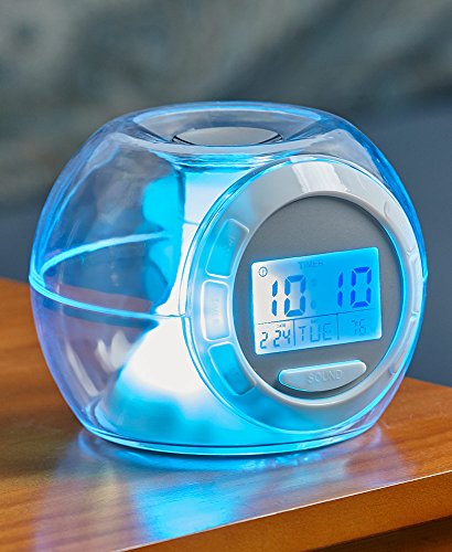 - The Lakeside Collection Color Changing Alarm Clock