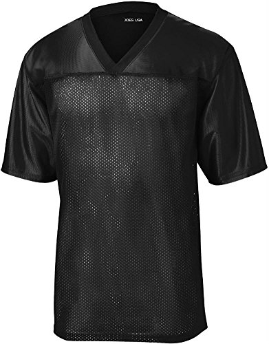 Joe's USA(tm) Mens Replica Athletic Football Jersey-Black-2XL (Replica Mens Football)