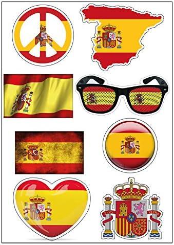 Mygoodprice D05 - Lámina A4 de Pegatinas, diseños de Banderas de España: Amazon.es: Hogar