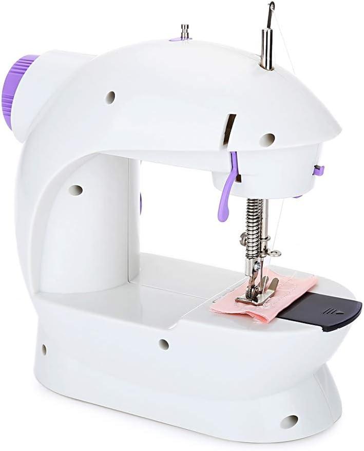 DOITOOL Mini máquina de coser portátil manual de 2 velocidades con ...