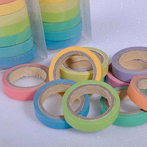 Domire 10x Decorative Washi Rainbow Sticky Paper Masking Adhesive Tape Scrapbooking DIY