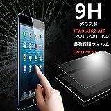 ipad mini mini2 mini3 強化ガラス フィルム 超耐久 超薄型 指紋防止 気泡防止 保護フィルム ガラス 9H retina retina2