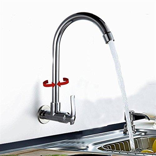 JINHUGU Neue KC-SL3 360 Rotation Waschtischarmaturen Wandmontage Für Badezimmer Küche Becken Wasserhahn Wasserhahn