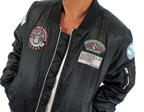 MA-1 フライトジャケット メンズ ミリタリー ブルゾン カーキ 3color