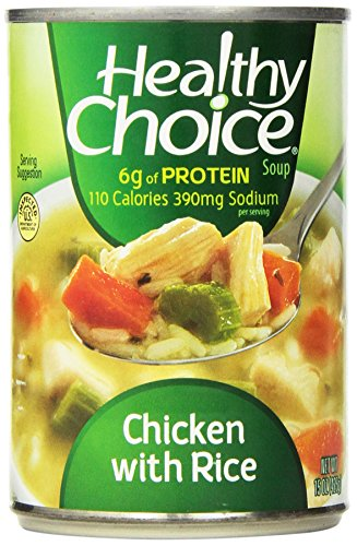 - Healthy Choice Chicken and Rice Soup, 15-Ounce (Pack of 12)
