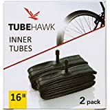 2 Pack - BOB, Thule, Joovy Zoom, Graco, Schwinn, Baby Trend Jogging Stroller Inner Tube Replacement - 16'' x 1.75 to 2.35 - Schrader Valve