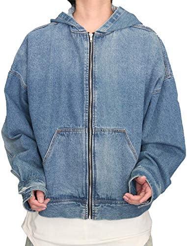 [woodwhichflows] フードデザインビッグデニムジャケット メンズ