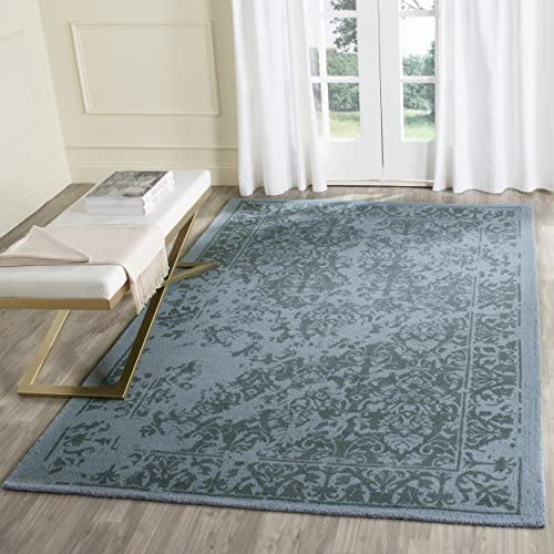 Safavieh Restoration Vintage Collection RVT103G Handmade Blue Wool Area Rug 8' x 10'