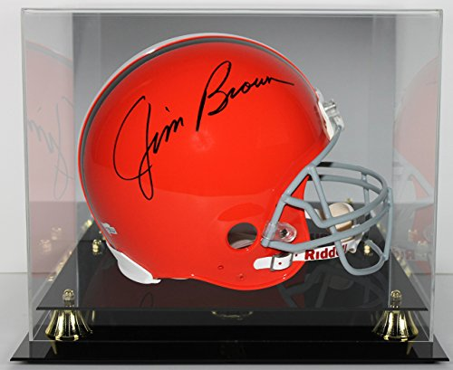 Browns Jim Brown Signed Full Size Authentic Helmet With Case Autographed Fanatics ()