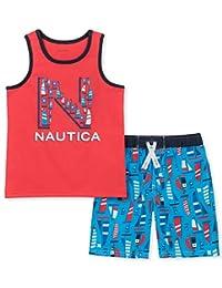 Nautica Sets (KHQ) Boys 2 Pieces Tank Top with Swim Shorts Set Shorts Set