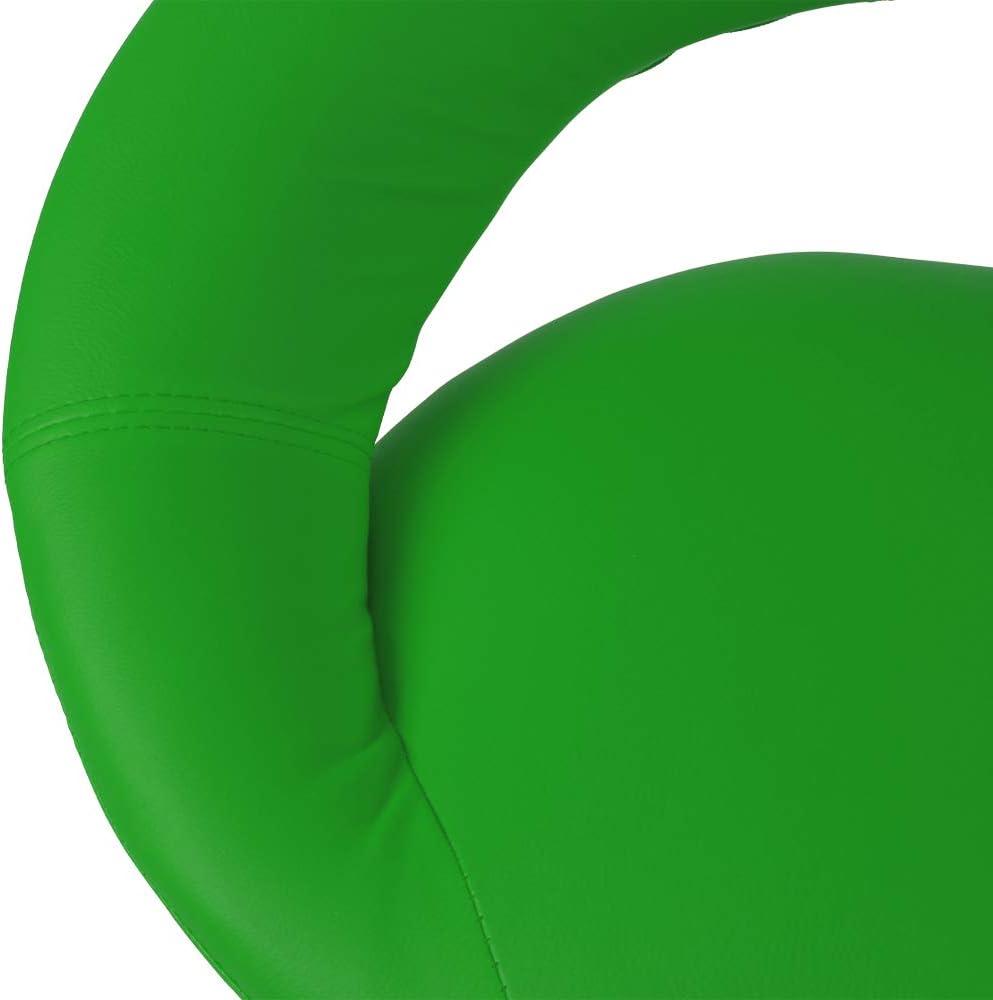 Miadomodo Tabouret de Bar Chaise Haute pour Cuisine en Simili Cuir Lot de 1 ou 2 Si/ège R/églable en Hauteur Comptoir Pivotant Vert, Lot de 2 60-81 cm Couleurs au Choix avec Dossier