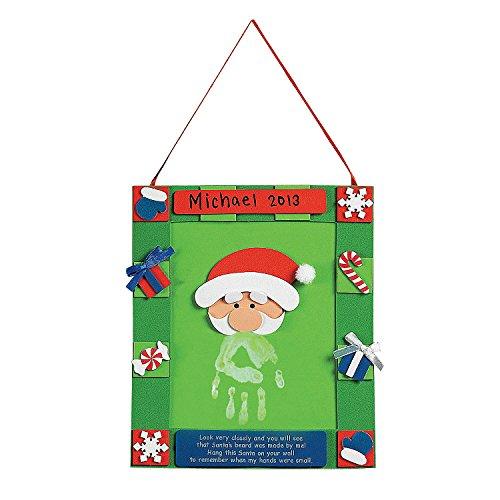 Handprint Santa Hanging Christmas Craft Kit (Handprint Santa)