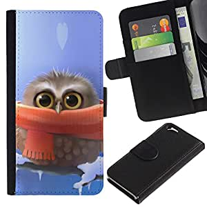 All Phone Most Case / Oferta Especial Cáscara Funda de cuero Monedero Cubierta de proteccion Caso / Wallet Case for Apple Iphone 6 // Cute owl Cute Winter Owl