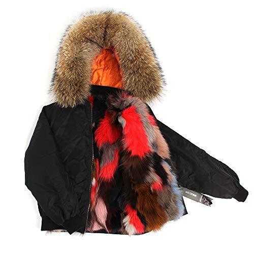 5 Escudo de color Chaqueta Calle lujosas Abrigo Corto de JSGJCOAT de la la Invierno Caliente Las Gruesa la de de Mujeres Manera 1qUYxdR