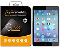 Apple iPad Mini 3 / 2 & iPad Mini Tempered Glass Screen Protector, Supershieldz Anti-Scratch, Anti-Fingerprint, Bubble Free