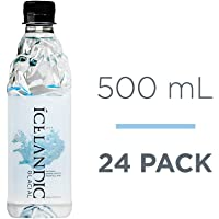 Icelandic Glacial Natural Spring Alkaline Water, 500 mL (24 Count)