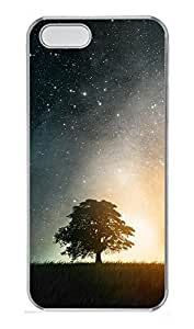 iPhone 5 5S Case Landscapes stars tree PC Custom iPhone 5 5S Case Cover Transparent