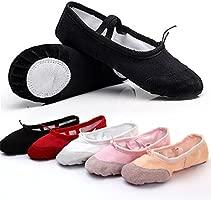 ANYIKE Zapatillas de Ballet para Danza, Zapatos de Yoga, Suaves y cómodos, Transpirables, compatibles con niños, niñas y Mujeres