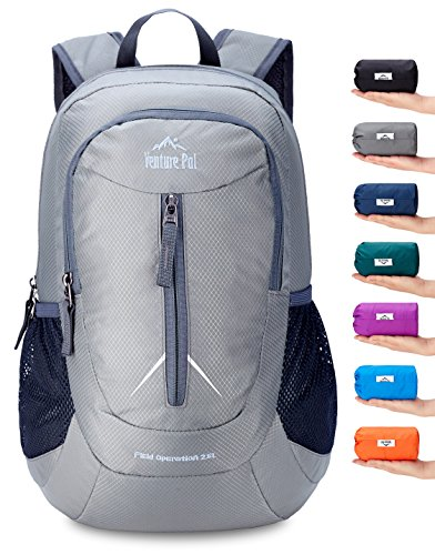 Venture Pal 25L - Durable Packable Lightweight Travel Hiking Backpack Daypack Small Bag for Men Women Kids (Grey) ()